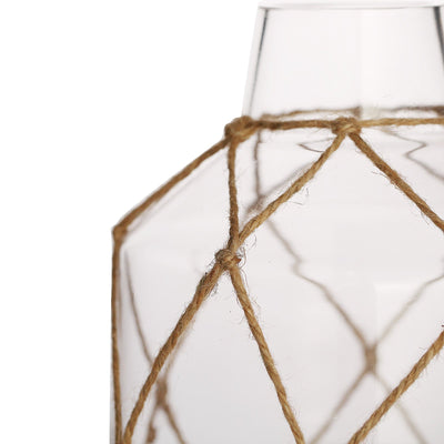 "8"" Tapered Neck Glass Vase 