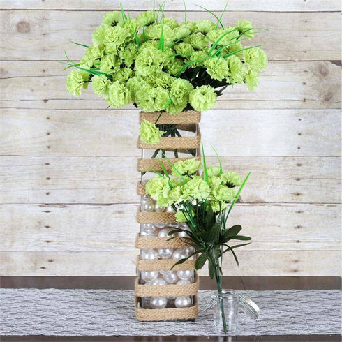 "16"" Square Glass Centerpiece Vase"