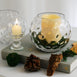 "2 Pack - 5"" Round Clear Sphere Vase - Hobnail Glass Bubble Vase - Table Top Glass Candle Holder"