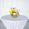 "6"" Gold Foiled Crackle Glass Flower Vase, Bubble Glass Vase"