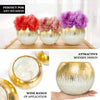 "6"" Gold Foiled Crackle Glass Flower Vase, Bubble Vase"