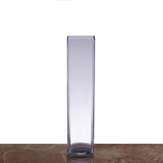 "12 Pack | 14"" Heavy Duty Square Cylinder Glass Vase"