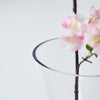 Reversible Trumpet Vase, Tall Glass Vases, Clear Vase, Glass Flower Vase