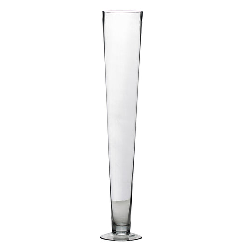 6 Pack | 24'' Clear Heavy Duty Trumpet Glass Vase