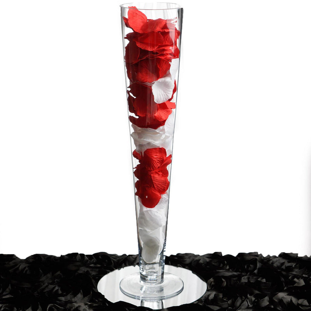 Quot tall trumpet heavy duty glass centerpiece vase wedding