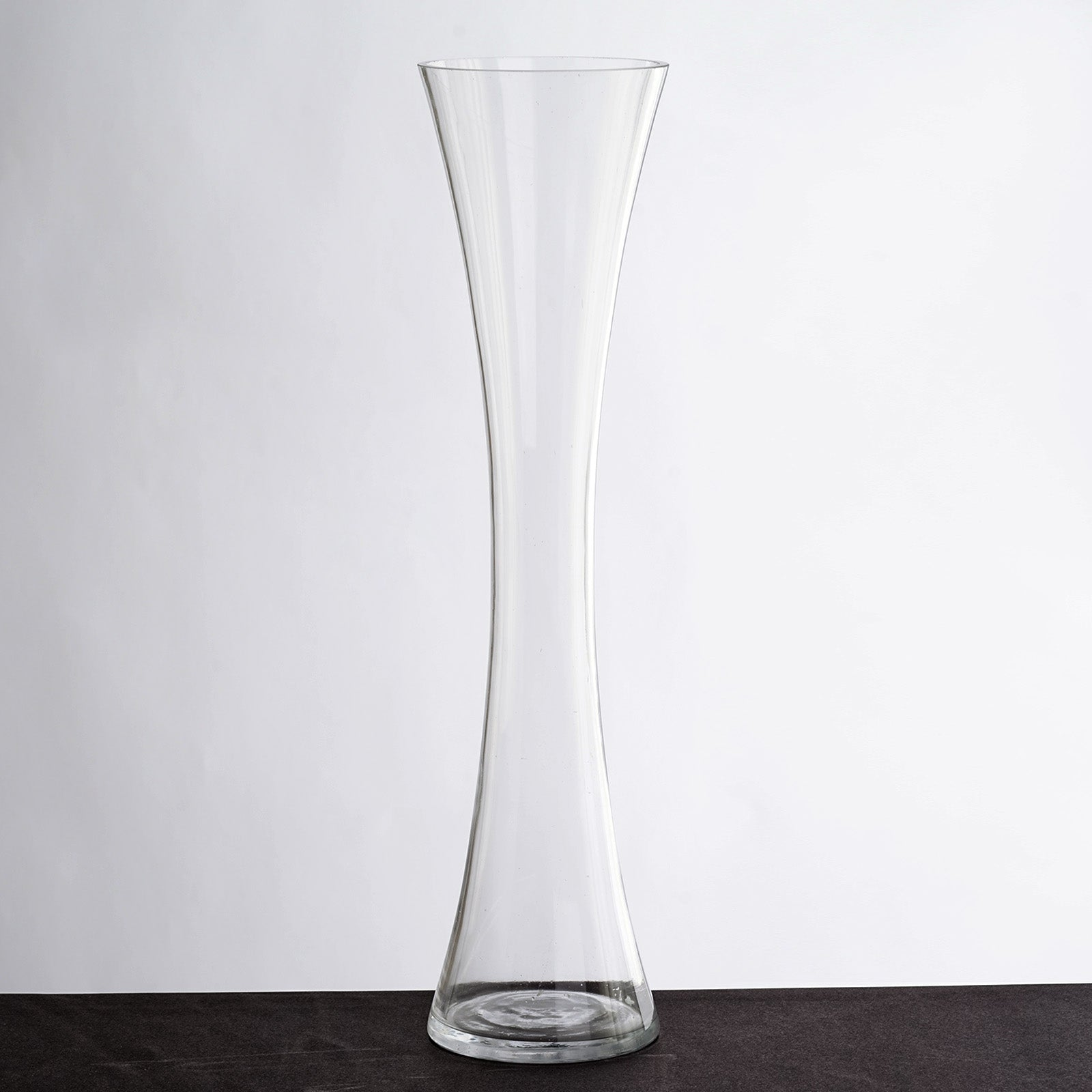 "20"" Tall Clear Hourglass Shaped Floral Vase Party Decoration 6pcs"