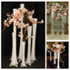12 Pack | 24'' Clear Eiffel Tower Glass Flower Vase