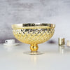 12inch Gold Mercury Glass Compote Vase, Pedestal Bowl Centerpiece