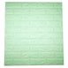 10 Pcs 58 Sq.Ft Seafoam Green 3D Faux Foam Bricks Self-adhesive Waterproof Art Wall Panel