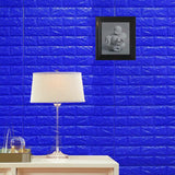 10 Pack | 58 Sq.Ft Royal Blue Peel and Stick 3D Foam Brick Wall Tile