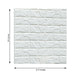 Pack of 10 | 58 Sq.Ft White Peel and Stick 3D Foam Brick Wall Tile