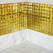 "10 Pack | 12""x12"" Gold Peel and Stick Mirror Wall Tiles"