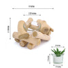 "2.5"" Tall - Natural Driftwood Candle Holder Stand with Glass Tea Light Holder"