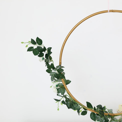 Metal Hoop Wreath, Floral Hoop, Wedding Hoops