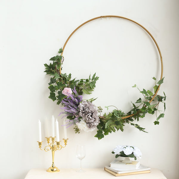 "24"" Gold Heavy Duty Metal Hoop Wreath, Floral Hoop"