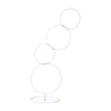 5 Ft White Hoop Pillar Flower Stand, Metal Wedding Arch Table Centerpiece