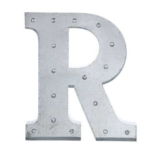 """Industrial Style. 20/"""" Silver Galvanized Vintage Metal Letter /& Marquee /""""B/"""""""