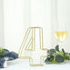 "8"" Tall - Gold Wedding Centerpiece - Freestanding 3D Decorative Wire Number - 4"