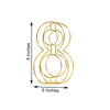 "8"" Tall - Gold Wedding Table Numbers - Freestanding 3D Decorative Metal Wire Numbers - 8"
