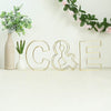 "8"" Tall - Gold Wedding Centerpiece - Freestanding 3D Decorative Wire Letter - C"