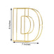 "8"" Tall - Gold Wedding Centerpiece - Freestanding 3D Decorative Wire Letter - D"