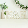"8"" Tall - Gold Wedding Centerpiece - Freestanding 3D Decorative Wire Letter - K"