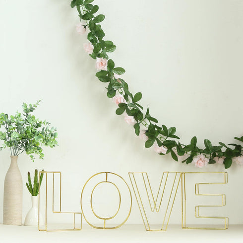 "8"" Tall - Gold Wedding Centerpiece - Freestanding 3D Decorative Wire Letter - O"
