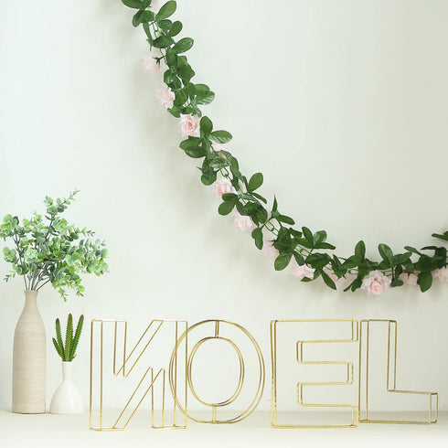 "8"" Tall - Gold Wedding Centerpiece - Freestanding 3D Decorative Wire Letter - Y"
