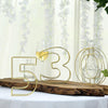 "8"" Tall - Gold Wedding Centerpiece - Freestanding 3D Decorative Wire Number - 1"