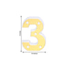 "6"" Gold 3D Marquee Numbers - Warm White 5 LED Light Up Numbers - 3"