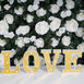 "6"" Gold 3D Marquee Letters - Warm White 5 LED Light Up Letters - V"
