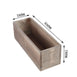 "14""x5"" Natural Rectangular Wood Planter Box Set With Removable Plastic Liners"