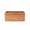 4 Pack | 8x4'' Natural Rectangular Wood Planter Box Set With Removable Plastic Liners