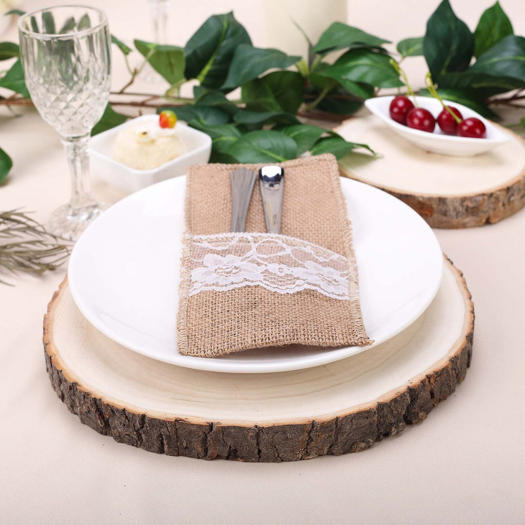 Poplar Wood Slices Wood Slabs Table Centerpieces Efavormart