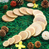 5 oz Rustic Cedar Wood Slices, Wedding Table Scatters