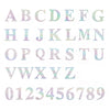 "4 Pack - 5"" Iridescent Alphabet Stickers Banner, Customizable Stick on Letters - P"