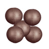 "12 Pack | 8"" Chocolate Round Chinese Paper Lantern"