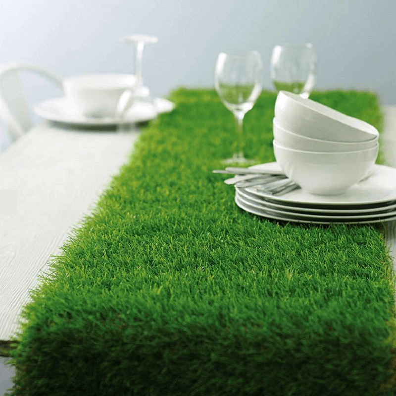 Genial ... All Weather Wedding Party Artificial Grass Table Runner ...