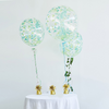 2 Pack | 20 inch Green Vine Air Helium PVC Deco Bubble Balloons