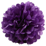 12 PCS Paper Tissue Wedding Party Festival Flower Pom Pom Purple 16 inch