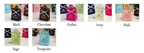 100 PCS Personalized Custom Printed Sacchetto Favor Box