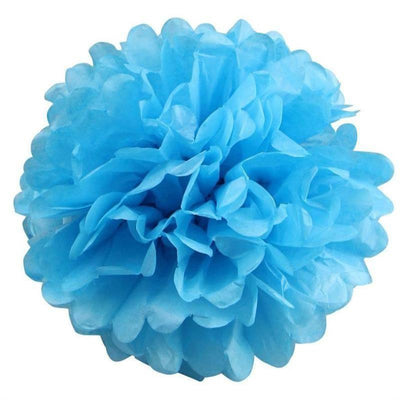 12 PCS Paper Tissue Wedding Party Festival Flower Pom Pom Turquoise 12 inch