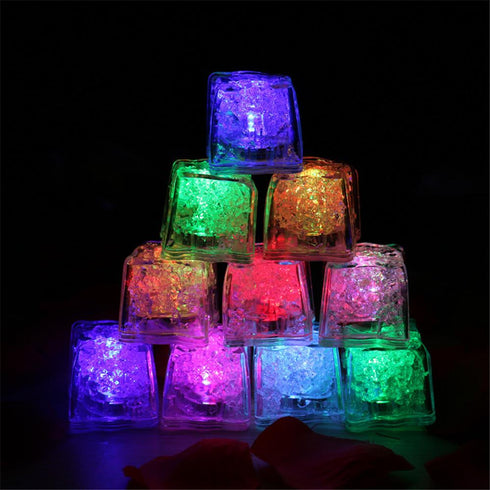 12 Pack Assorted Vibrant Submersible LED Ice Cubes