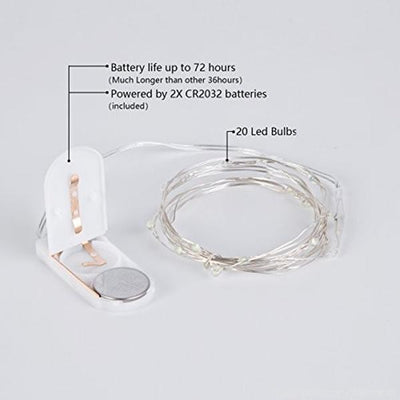 release date: f51bb 5f35d 7.5 FT White Starry String Lights Battery Operated with 20 Micro Bright LEDs