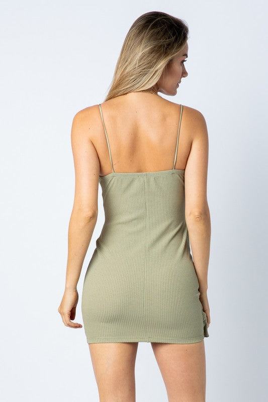 Sage Ribbed Mino Dress
