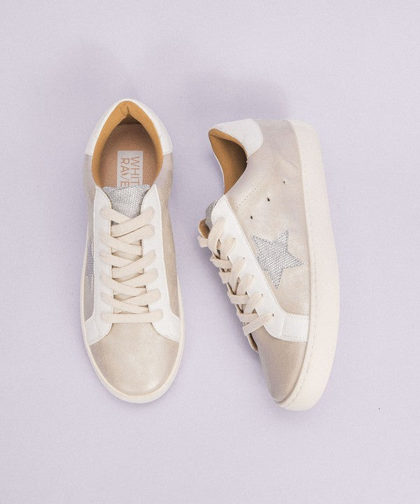 Beige Star Sneakers