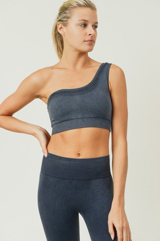 Asymmetrical Seamless Sports Bra
