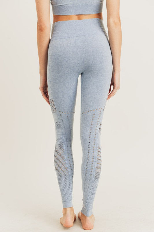 Texture Stripe Detail Legging
