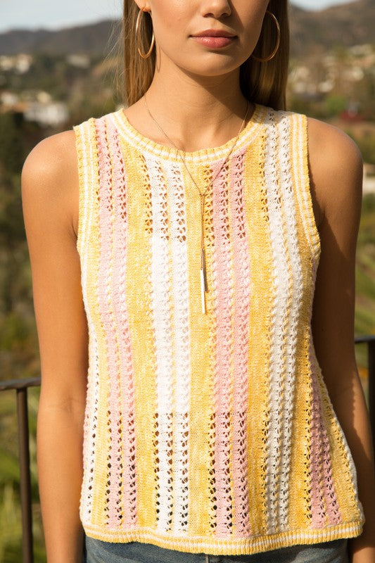 Crochet Color Tank