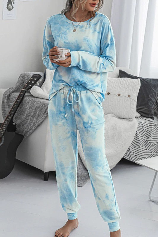 Blue Dye Lounge Wear Set